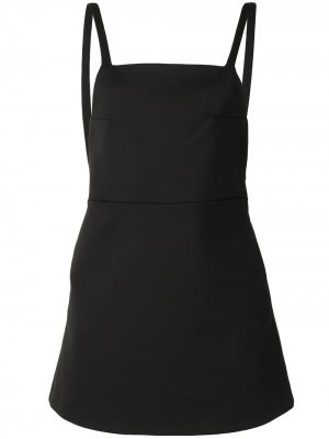 Платье-сарафан с квадратным вырезом SIR.. Цвет: черный