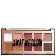 Тени для век Professional Makeup Away We Glow Shadow Palette 10 г - Lovebeam NYX
