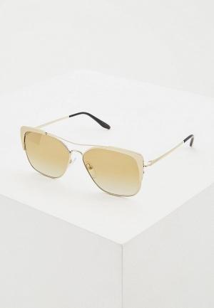 Очки солнцезащитные Prada PR 54VS 3302G2. Цвет: золотой