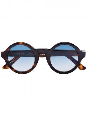 Солнцезащитные очки Hays в круглой оправе черепаховой расцветки Kirk Originals. Цвет: коричневый
