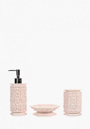 Набор аксессуаров для ванной Sofi De Marko. Цвет: розовый