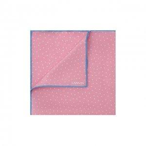 Шелковый платок Lanvin. Цвет: розовый