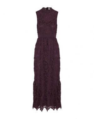 Длинное платье ANNA SUI. Цвет: баклажанный