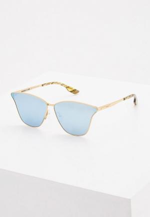 Очки солнцезащитные McQ Alexander McQueen MQ0087S006. Цвет: золотой