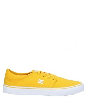 Низкие кеды и кроссовки DC SHOES. Цвет: желтый
