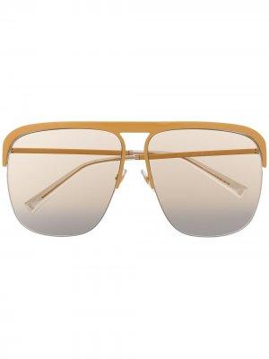 Солнцезащитные очки-авиаторы Givenchy Eyewear. Цвет: желтый