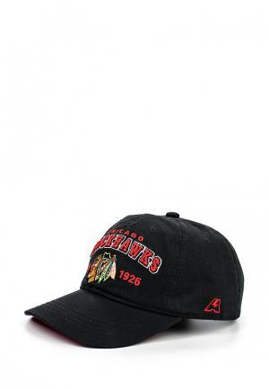 Бейсболка Atributika & Club™ NHL Chicago Blackhawks. Цвет: черный