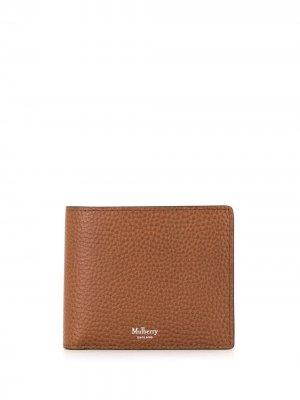 Бумажник с логотипом Mulberry. Цвет: коричневый