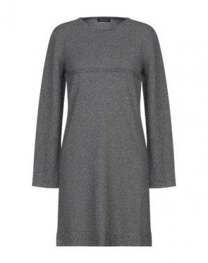 Короткое платье ANNECLAIRE. Цвет: серый
