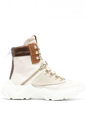 Массивные ботинки на шнуровке Cesare Paciotti 4Us. Цвет: нейтральные цвета