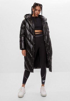 Куртка утепленная Bershka. Цвет: черный