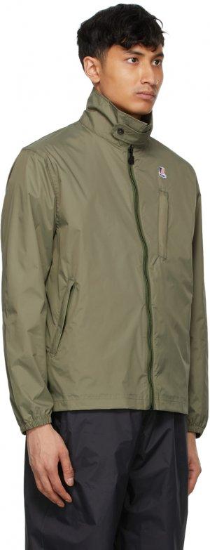 Khaki K-Way Edition Packable Crepin 3.0 Jacket Engineered Garments. Цвет: khaki