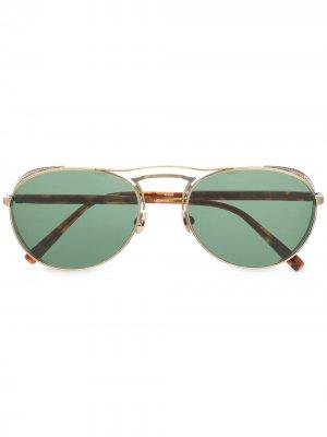 Солнцезащитные очки-авиаторы Matsuda. Цвет: коричневый