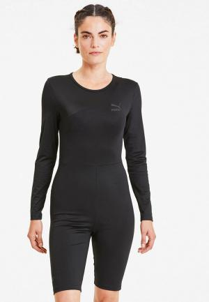 Комбинезон PUMA TFS Fashion Unitard. Цвет: черный