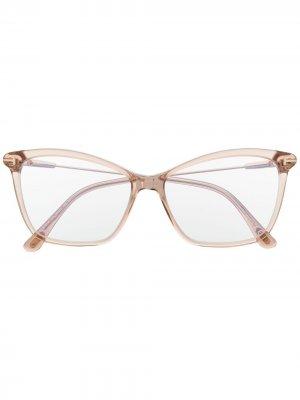 Очки в квадратной оправе TOM FORD Eyewear. Цвет: нейтральные цвета