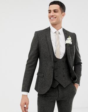 Темно-серый супероблегающий пиджак Twisted Tailor