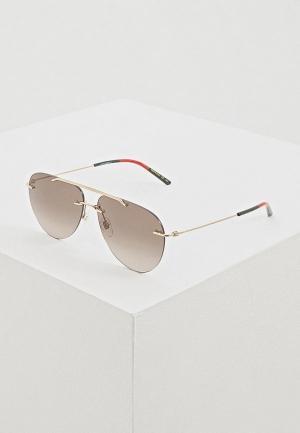 Очки солнцезащитные Gucci GG0397S003. Цвет: коричневый