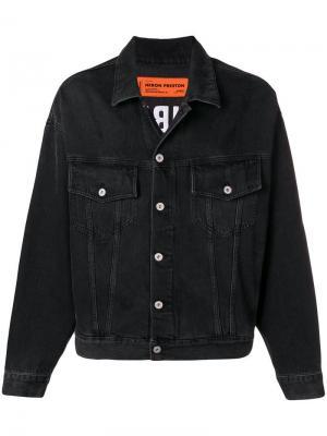 Джинсовая куртка Public Heron Preston. Цвет: черный
