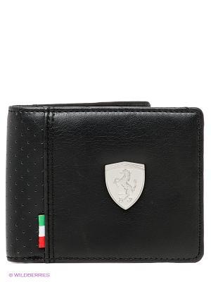 Портмоне Ferrari LS Wallet M black Puma. Цвет: черный