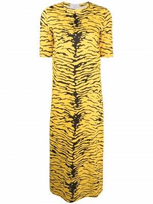 Платье-футболка с принтом Faith Connexion. Цвет: желтый