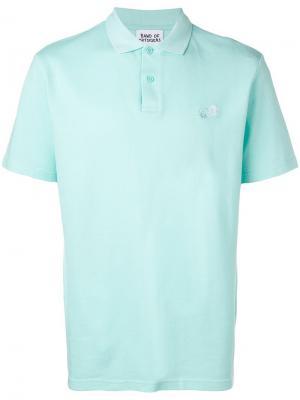 Рубашка-поло с вышитым логотипом BAND OF OUTSIDERS. Цвет: синий