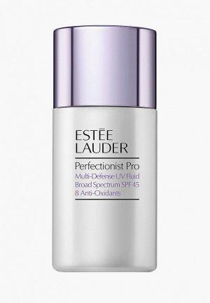 Флюид для лица Estee Lauder UV мульти-защитный с антиоксидантами SPF 45 Perfectionist Pro Multi-Defense Fluid. Цвет: прозрачный