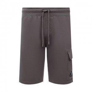 Хлопковые шорты C.P. Company. Цвет: серый