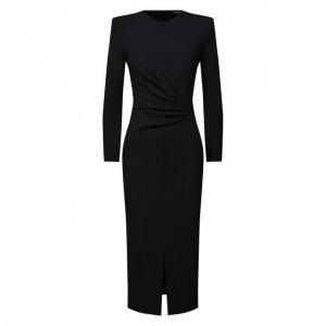 Платье из вискозы Giorgio Armani. Цвет: чёрный
