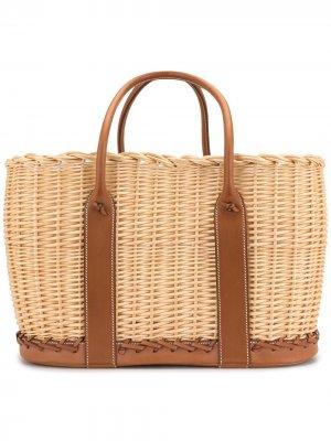 Сумка-тоут Garden Picnic Basket pre-owned Hermès. Цвет: коричневый