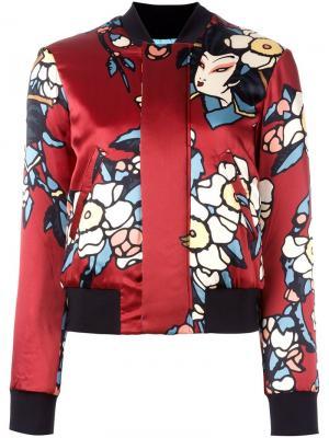 Куртка бомбер Blossom Dsquared2. Цвет: красный
