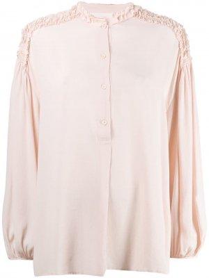 Блузка с оборками 8pm. Цвет: розовый