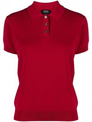 Приталенная рубашка с короткими рукавами A.P.C.. Цвет: красный