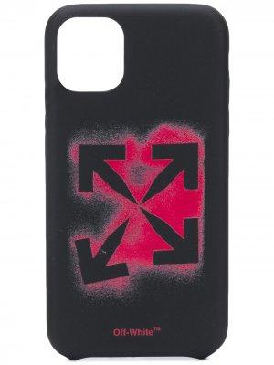 Чехол для iPhone XS с логотипом Arrows Off-White. Цвет: черный