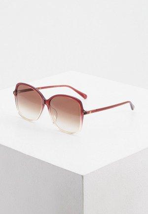 Очки солнцезащитные Gucci GG0546SK 004. Цвет: бордовый