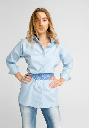 Рубашка Elena Andriadi MP002XW1AGH6. Цвет: голубой