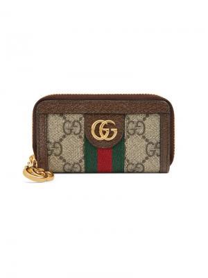 Ключница Ophidia GG Gucci. Цвет: коричневый