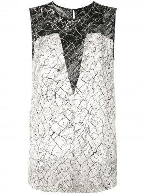 Блузка с принтом BCBG Max Azria. Цвет: белый
