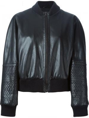 Куртка-бомбер с панельным дизайном Jil Sander Pre-Owned. Цвет: черный