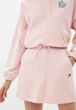Юбка PUMA Downtown Skirt. Цвет: розовый