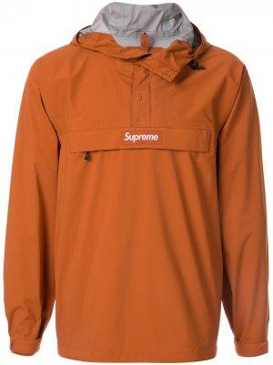 Анорак с логотипом Supreme. Цвет: коричневый