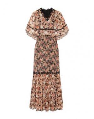 Длинное платье ANNA SUI. Цвет: песочный