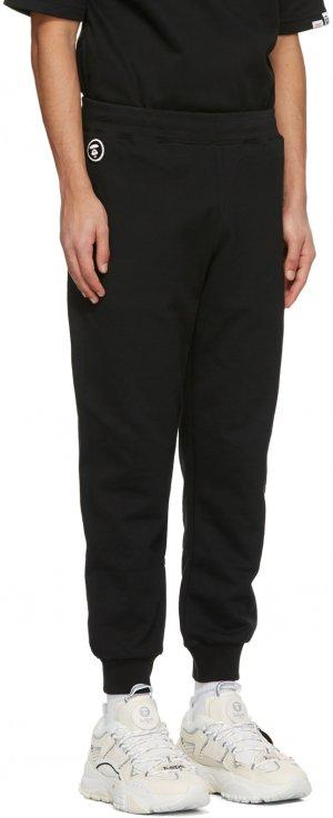 Black Logo Lounge Pants AAPE by A Bathing Ape. Цвет: black