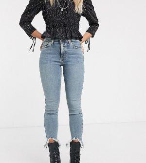 Выбеленные джинсы скинни Jamie-Зеленый Topshop Petite