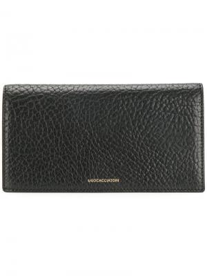 Удлиненный бумажник Ugo Cacciatori. Цвет: чёрный