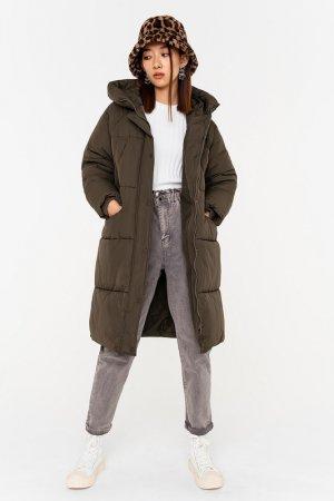 Пальто befree. Цвет: 13, хаки, оливковый