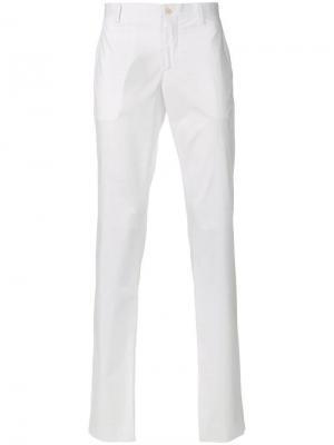 Классические брюки-чинос Etro. Цвет: белый