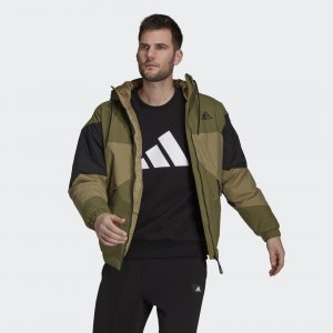Утепленная куртка Back to Sport Performance adidas. Цвет: оливковый