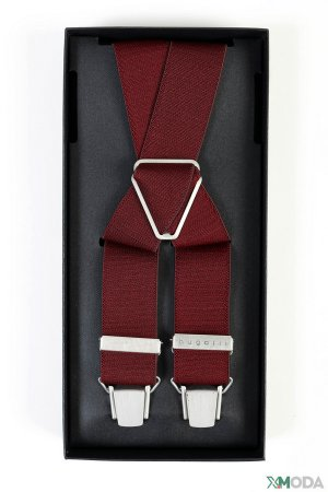 Подтяжки Bugatti. Цвет: красный