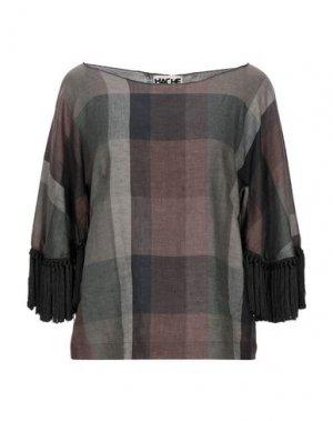 Блузка HACHE. Цвет: темно-зеленый