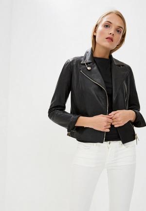 Куртка кожаная Versus Versace. Цвет: черный